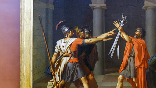 David, Oath of the Horatii, the oath