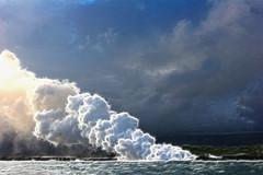 Ocean Steam (David K. Edwards) Tags: fractalius lava steam seaside shoreline volcano hawaii bigisland sizzle roar