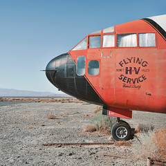 hemet valley flying service. lancaster, ca. 2012. (eyetwist) Tags: eyetwistkevinballuff eyetwist flyingboxcar airplane derelict mojavedesert lancaster foxfield waterbomber firebomber mojave desert highdesert landscape america patina old weathered decay american west nikon d7000 nikkor 18200mmf3556gvrii processed postprocessed plugin photoshop alienskin exposure d160 type typography lettering americantypologies fairchild c119 antelopevalley aircraft usaf retired cargo cockpit nose landinggear phoschek water fire bomber stripe runway turnlimit n13745 square california
