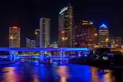 Tampa City at Night (CarlosCintron) Tags: tampa skyline city nikon