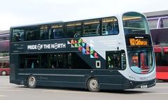 Transdev Burnley & Pendle 421 BD11CEA in Burnley Bus Station working a 'Mainline' service M2 to Clitheroe. (Gobbiner) Tags: burnleypendle 421 mainline transdev volvo wrightbus eclipse b9tl gemini bd11cea coastliner