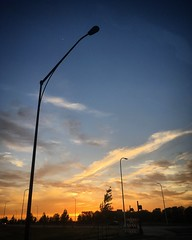 Polaris Sunset (tim.perdue) Tags: sunset sundown sky clouds sun evening twilight streetlamp street light polaris columbus ohio gemini parkway