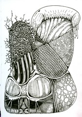 Space Bunny (molossus, who says Life Imitates Doodles) Tags: zentangle zentangleinspiredart penandink abstract drawing illustration