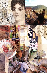 Lost Chapters #4 (The Grand Collage) Tags: collage leaves woman donkey landscape music wall scroll calligraphy candy house
