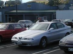 2001 ALFA ROMEO 166 (D70) Tags: 2001 alfa romeo 166 30 v6 sportronic silver saloon olympus c2100uz mercer waikato newzealand