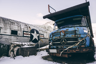 Abandoned Airplane & Truck