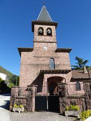Eugi, Navarre, Espagne: église San Martin. (Marie-Hélène Cingal) Tags: espagne españa spain navarre navarra eugi église iglesia eliza church chiesa