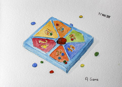 May daily challenge 17 - A game (chando*) Tags: aquarelle watercolor sketch croquis