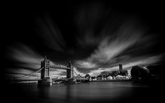 Iconic (darrenjames.photography) Tags: monochrome bridge thames blackandwhite darrenjamesphotography nikon infrared longexposure towerbridge