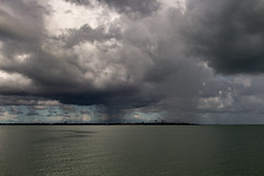 Rainshower over Darwin (betadecay2000) Tags: rainshower over darwin seen from mandorah ferry terminal northern territory australia australien aussie austral austrlie oz wetter weer meteo weather cloudy cloud clouds rain regen regenschauer shower himmel sky see sea meer ozeanien oceania wet season cumulus mendorah beach water wasser urlaub travel vacation melbourne australian australië أستراليا austrálie αυστραλία australie استرالیا 오스트레일리아 אוסטרליה ausztrália austrália австралия ประเทศออสเตรเลีย