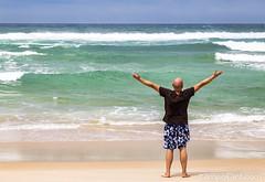 Freedom (campofant) Tags: man ocean portugal coast beach water sky heaven turquoise freedom feeling europe travel reisen europa canon dslr