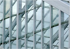 Glasshouse (In Explore) (jesse1dog) Tags: clumberpark greenhouse glass framing distortions white paleblue