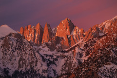 Whitney and Beyond (Willie Huang Photo) Tags: sierranevada sierra easternsierra whitney mtwhitney mountains winter sunrise snow california owensvalley hwy395 lonepine alabamahills