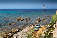 alghero (heavenuphere) Tags: alghero sassari sardegna sardinia sardinie italia italy europe island mediterranean sea water blue view seascape boat 24105mm gi