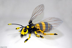Hornet (Takamichi Irie) Tags: lego insect hornet bee bag moc yellow