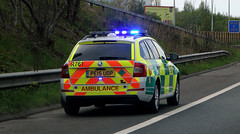 M53 Accident North West Ambulance Service NHT (sab89) Tags: north west ambulance service accident incident fiat a762 po15 aax skoda estate r761 pe15 uop m53 motorway nht nwas