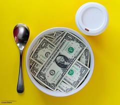 Balanced Breakfast (disgruntledbaker1) Tags: dollars money breakfast disgruntledbaker