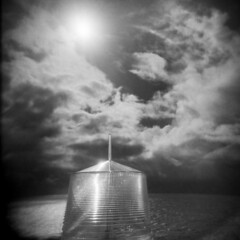 Point Cabrillo #7 (LowerDarnley) Tags: holga mendocino california californiacoast northernca pointcabrillo lightstation lighthouse sky clouds sun ocean pacificocean