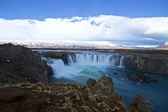 Godafoss, waterfall of the gods (Herculeus.) Tags: 2017 april iceland water landscape waterfall outside outdoor outdoors river mountains 5photosaday rock