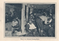 Wounded Australian soldiers being treated in an advanced dressing station - WW1 (Aussie~mobs) Tags: ww1 australia army military aif anzac 1917 soldier dressingstation medico wounded medical underground