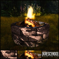 [Kres] Triad Fire Pit ([krescendo]) Tags: cosmo cosmopolitan secondlife kres krescendo outdoorfurniture gardenfurniture firepit benches bench seating home decor