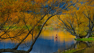 Fishing amongst autumn colour