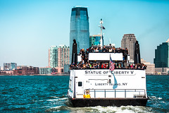 A ride on the New York Water Taxi. (The city guy ☺) Tags: watertaxi blue city cityscapes waterways architecture outdoors walkingaround navigating urbanexploration unitedstates travelling people hudsonriver