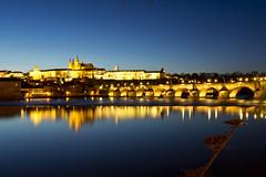 Blue Hour Prague (kalakeli) Tags: prag prague praha 2017 march märz moldau river rivers flüsse fluss water wasser charlesbridge karlsbrücke karlůvmost hradčany hradschin veitsdom stvituscathedral vltava longexposure langzeitbelichtung bluehour blauestunde nightshots nachtaufnahmen 30secs