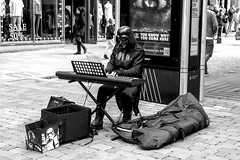 Fund raising for the new Death Star was not going well (The Crewe Chronicler) Tags: starwars darthvader manchester busker streetentertainment mcr monochrome blackandwhite canon canon7dmarkii streetphotography thesith thedarkside darkside