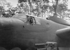 Maj Marzolf and Ack Ack (International Historical Research Associates) Tags: wwii ww2 worldwar2 worldwarii warbird b25 38thbombgroup lae
