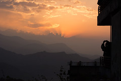 Himalayan sunrise from Sarangkot Tower (suebunnybungard) Tags: sunrise himalayas sarangkot nepal