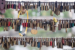 Love locks in Ljubljana (George Pachantouris) Tags: slovenia europe ljubljana european medieval architecture love locks ljubljanica