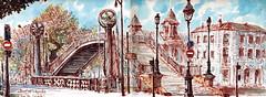 Pont de Crimée (C.PARR) Tags: art aquarelle urban sketch paris parrini panorama
