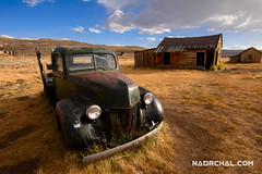 The one from Bodie Ghost Town (nadrchal.com) Tags: travel clouds mountains house cars car old architecture building history alone california wood town abandoned bodie ghost historic mono county wreck