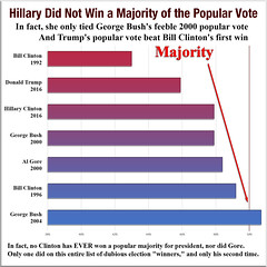 Hillary Did Not Win a Majority of the Popular Vote (KAZVorpal) Tags: georgewbush georgehwbush donaldtrump billclinton algore hillaryclinton majorityrule democracy republic republican democratic win president election 2016 2012 2008 2005 2000 1996 1992 popularvote electoralcollege stolen