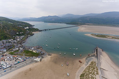Barmouth from the Air (Ashley Cohen Photography) Tags: djiphantom4 drone wales west barmouth ariel photography mountains bridge beach sea bay harbour