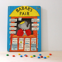 Babar's Fair. (Kultur*) Tags: vintage vintagebook books childrensbooks illustrated elephant drawings children babar brunhoff book king firstedition 1950sbook babarsfair