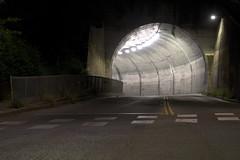 Northbrae Tunnel night (lenswrangler) Tags: lenswrangler digikam roadway solano avenue sutter street northbrae tunnel crosswalk night