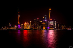 Shanghai PuDong (Žèę Ķ) Tags: shanghai longexposure city lights cityscape china reflection neon neonlights architecture shanghaitower orientalpearl pudong puxi thebund prc centre night nightscape nightphotography