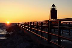 (Lauren Glass.) Tags: charlevoix charlevoixlighthouse lighthouse northernmichigan beach
