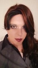 April 2017 - lady´s night out (cilii_77) Tags: cd tg tv crossdresser crossdressing transgender transvestite skirt suit blouse pearls hair makeup elegant dinner lipstick