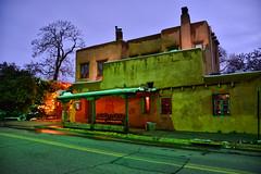 Pink Adobe (keyphan06) Tags: restaurant santafe travel snow