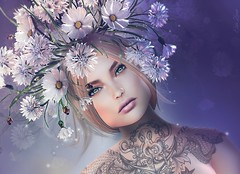I'd rather be a silly girl with a flower (Eria Ziemia) Tags: femaleavatar floweraccessory flowerheadpiece lelutkabentohead lode octopustattoo portrait secondlife tattoo virtualfashion whitewidowtattoo opale