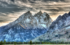 The Tetons at Sunset (E.K.111) Tags: mountains sunset hdr nature nationalpark landscape wilderness clouds lowlightphotography canon5dmarkiii