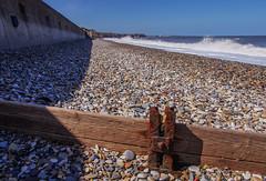 H (lowooley.) Tags: seaham countydurham beach shingle breakwater timber steel rust h