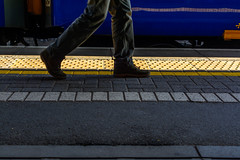 Stay behind the yellow line (131/365, May 11th) (Yannis_K) Tags: project365 yannisk nikond7100 nikon35mmf18dx trainstation yellowline pedestrian passenger feet shoes lines