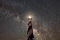 Cape Hatteras Beacon Of Light (Mike Ver Sprill - Milky Way Mike) Tags: light cape hatteras lighthouse house north carolina obx outer banks milky way galaxy mike versprill ver sprill landscape nightscape night sky nightscaper astrophotography astronomy brick walk long exposure royce bair fusco