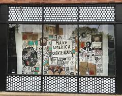 Make America Create Again (wiredforlego) Tags: graffiti streetart urbanart pasteup wheatpaste logansquare chicago illinois ord sticker