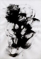 Sumi texture(墨テクスチャ) 03 (warimaru) Tags: japan japanese sumi black ink 墨 テクスチャー texture 日本 monochrome