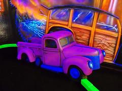 OH Niles - Route 66 Black Light Minigolf 17 (scottamus) Tags: niles ohio trumbullcounty mini miniature golf puttputt indoor course blacklight glow tiltstudio route66blacklightminigolf truck